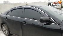 Ветровики с хромом Toyota Camry V40 оригинальный дизайн