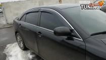 Ветровики боковых окон Тойота Камри 40 фото с хромом