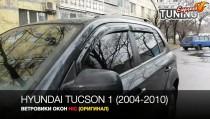 Комплект оригинальных ветровиков на Hyundai Tucson 1 фото