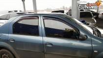 HIC Дверные дефлекторы Renault Logan 1 поколения комплект