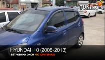 HIC Ветровики на Hyundai i10 полный комплект