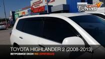Ветровики на Toyota Highlander 2 полный комплект