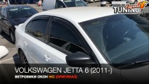 Ветровики на Volkswagen Jetta 6 седан полный комплект