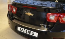 Накладка на задний бампер Шевроле Малибу (защитная накладка бампера Chevrolet Malibu)