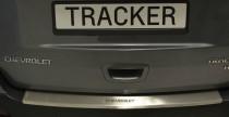 Накладка на задний бампер Шевроле Трекер (защитная накладка заднего бампера Chevrolet Tracker)