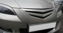 Решетка радиатора Мазда 3 Bk седан (пластиковая решетка Mazda 3 Bk дорестайл)