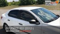 Ветровики на Peugeot 301 полный комплект 4шт