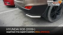Защитные углы заднего бампера Hyundai ix35