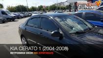 HIC Ветровики Kia Cerato 1 полный комплект 4шт