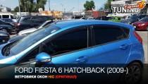 HIC Ветровики Ford Fiesta 6 хэтчбек полный комплект 4шт
