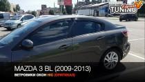 HIC Ветровики Mazda 3 BL полный комплект 4шт