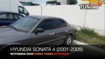 Дверные дефлекторы Hyundai Sonata 4 оригинал CT