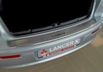 защитная накладка бампера Mitsubishi Lancer X