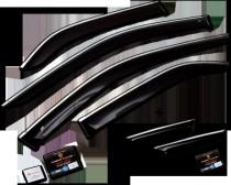 Дефлекторы с хром молдингом Toyota Highlander 3 поколения