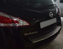 Накладка на задний бампер Ниссан Мурано Z51 (защитная накладка бампера Nissan Murano Z51)