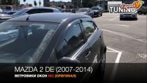 HIC Ветровики на Mazda 2 DE полный комплект 4шт