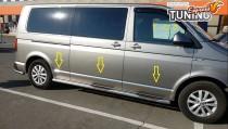 Хром молдинги на двери Фольксваген Транспортер Т6