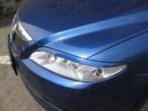 Реснички на фары Мазда 6 (накладки фар Mazda 6, 2003-2007)