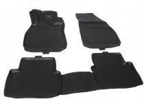Резиновые коврики в салон Ford Ranger 2 полный комплект