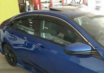 Дефлекторы окон с хромом Honda Civic 10 седан