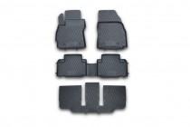 Коврики в салон Mazda 5 CW комплект на 3 ряда