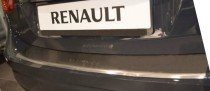 Накладка на задний бампер Рено Флюенс (защитная накладка бампера Renault Fluence)