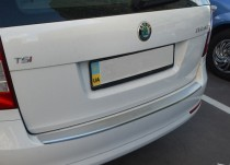 Накладка на задний бампер Шкода Октавия А5 универсал (защитная накладка бампера Skoda Octavia A5 combi)