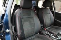 Чехлы на Opel Astra J с 2009- года серии Leather Style