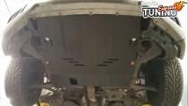 Защита поддона Nissan Altima 5 L33 под бампер увеличенная