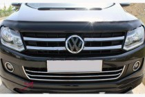 Хром накладки на передний бампер с улыбкой Volkswagen Amarok