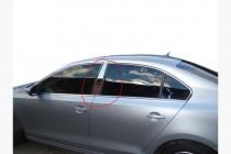 Хром молдинги дверных стоек Volkswagen Jetta 6 с 2010 года