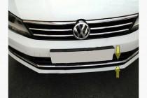 Хром накладка на решетку бампера Volkswagen Jetta 6 (2014-)