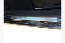 Хром накладки на пороги Volkswagen Passat B6
