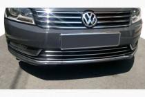 Omsa Line Хром накладки на решетку бампера Volkswagen Passat B7 (2010-2014)