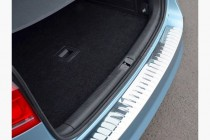 Хром накладка на задний бампер Volkswagen Passat B7 глянец