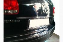 Хром накладка над номером Volkswagen Touareg 1