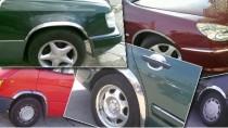 Хромированные накладки на колесные арки Skoda Octavia A4 Tour