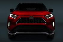 Хром накладки на решетку радиатора Toyota Rav 4 5 с 2018 года-)