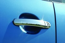 Omsa Line Хром накладки на дверные ручки Skoda Fabia 2