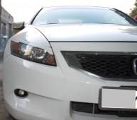 Пластиковые реснички на фары Хонда Аккорд купе (фото)