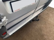 Хром накладка на задний бампер Peugeot Boxer 2
