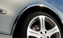 Хромированные накладки колесных арок Peugeot Partner 2 две боковые двери
