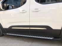 Хромированные молдинги дверей Peugeot Rifter