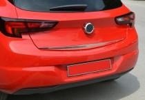 Хром накладка на нижнюю кромку крышки багажника Opel Astra K