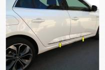 Хром молдинги на двери Renault Megane 4 Sedan