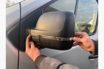 Хром полоски для боковых зеркал Renault Trafic 3