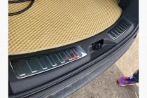 Хром накладка на задний бампер Land Rover Discovery Sport
