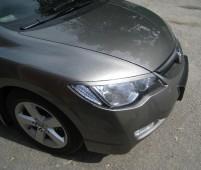 Установка ресничек на передние фары Хонда Цивик седан