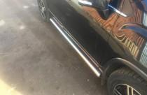Пороги трубами Chevrolet Tracker из нержавейки