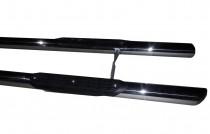 Пороги трубами на Chrysler Voyager нержавейка 2шт